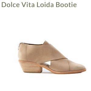 Dolce Vita Loida crossover front leather booties